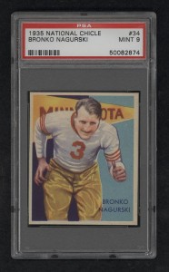 Bronko Nagurski National Chicle card