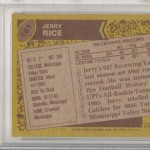 Jerry Rice Rookie Card Best of 1980s Crop