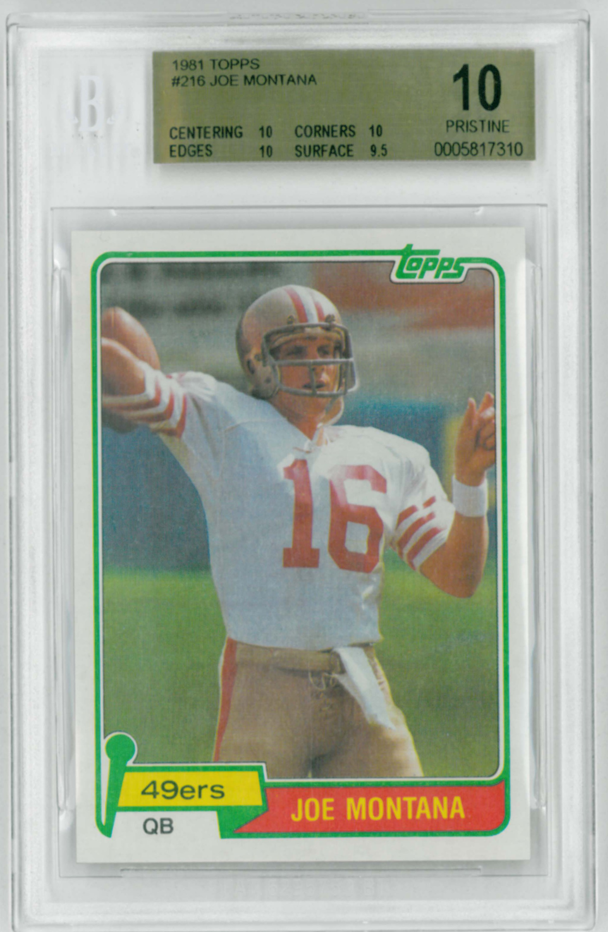 Top Football Rookie Cards Of The 1980s Vintage Graded Football Cards