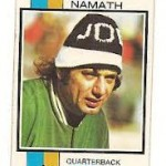 Investing in Joe Namath football cards